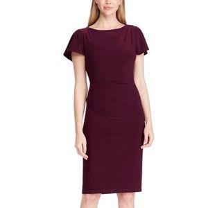NWT Ralph Lauren Floral-Print Jersey Purple Dress